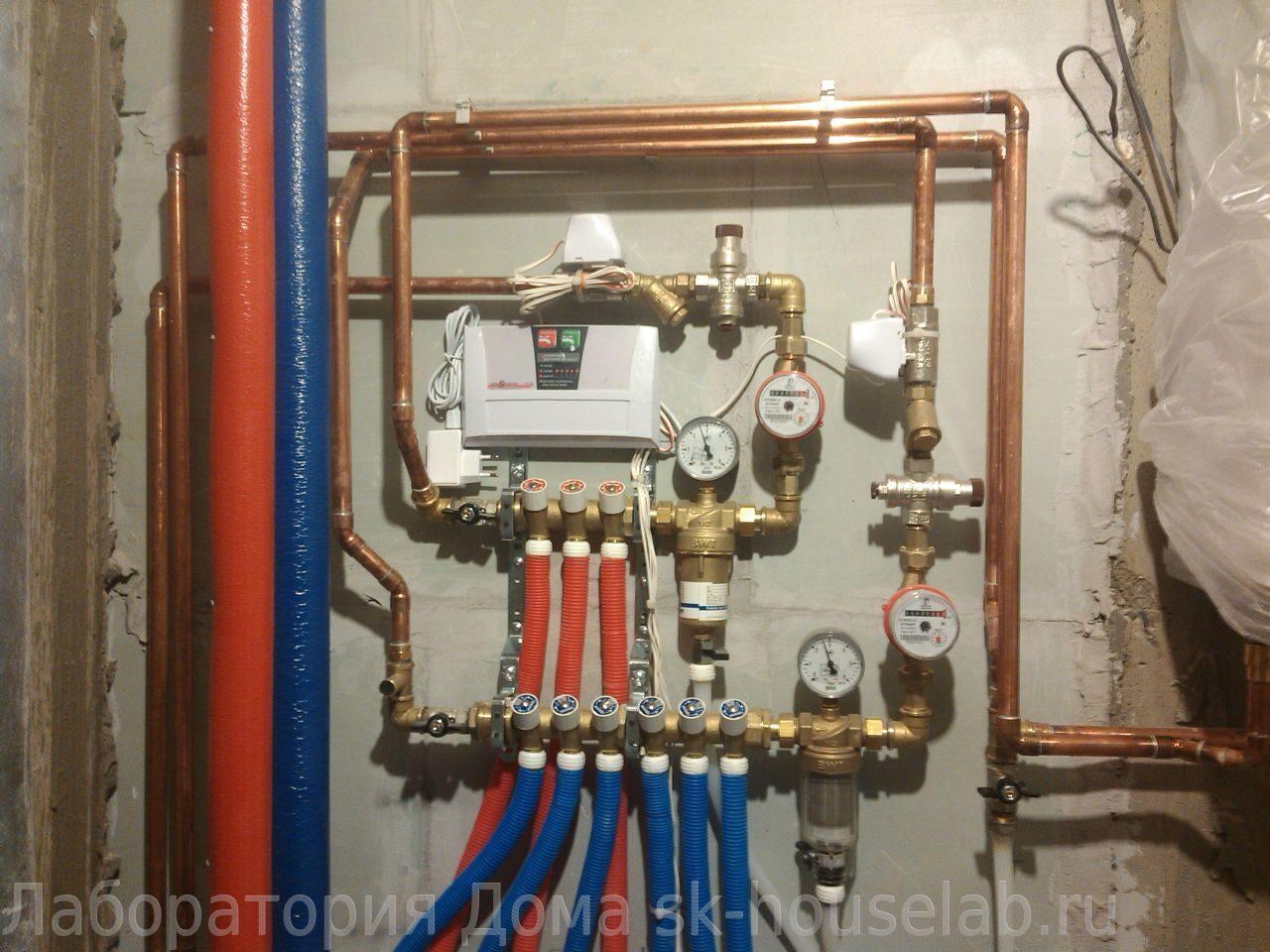 Монтаж труб водоснабжения из сшитого полиэтилена фото 898