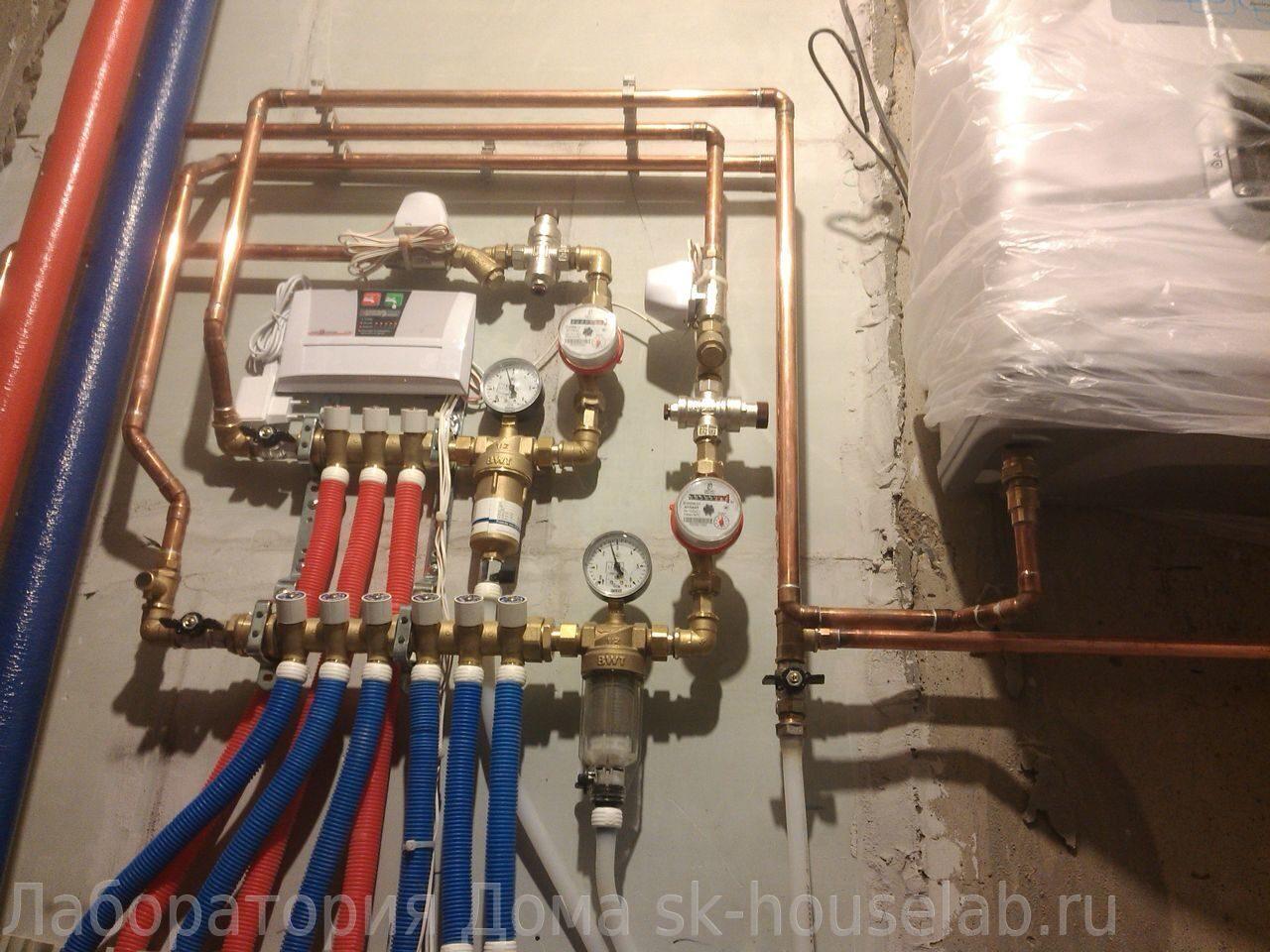 Монтаж труб водоснабжения из сшитого полиэтилена фото 956