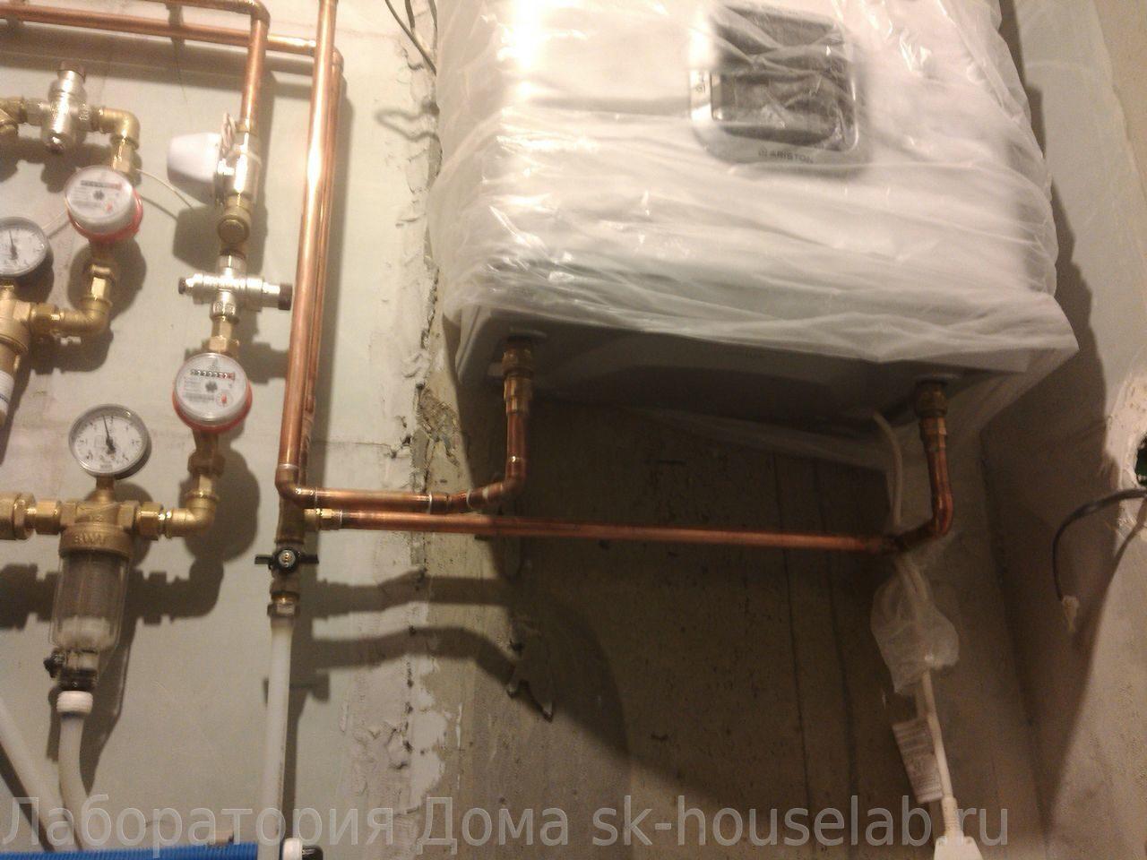 Монтаж труб водоснабжения из сшитого полиэтилена фото 599